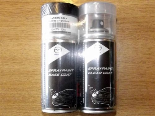 Paint spray kit, genuine Mazda, 28B, Carbon Grey